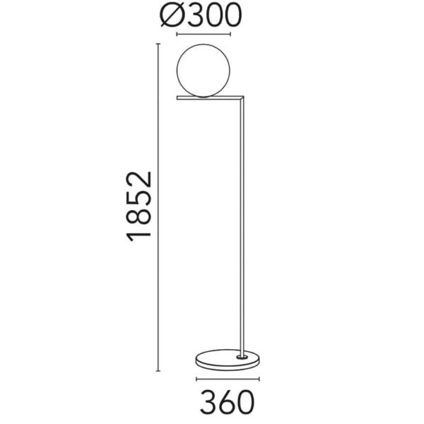 ic f2 outdoor flos medidas