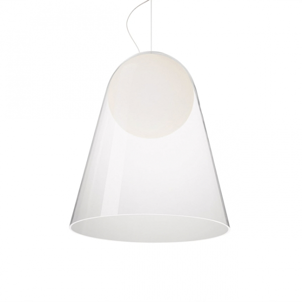 SATELLIGHT GRANDE COLGANTE BLANCO/TRANSPARENTE