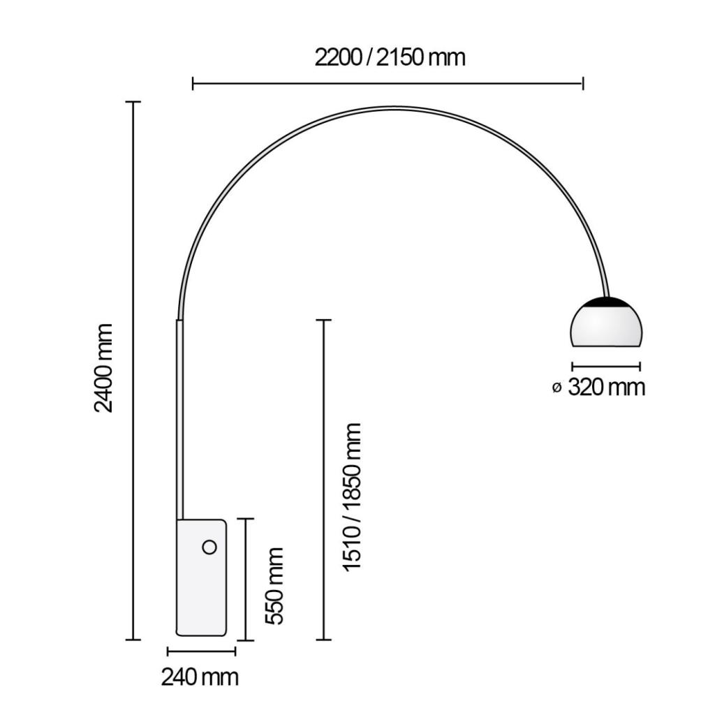 lampara-pie-arco-flos-medidas
